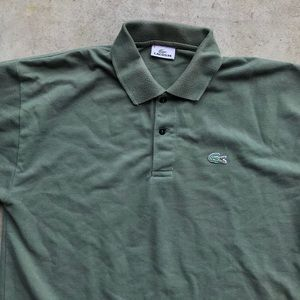 Lacoste men's short sleeve polo shirt green